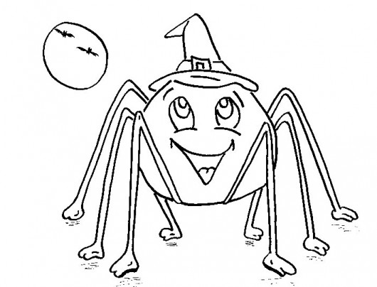 coloring pages halloween spiders - photo#5